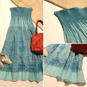 Lapis : Blue Convertible Strapless Dress / Skirt